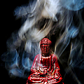 Buddha In Smoke by Olivier Le Queinec