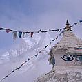 Buddhist Shrine In The Himalayas by Shaun Higson