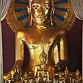 Buddhist Statue In Wat Phra Singh by Keith Levit