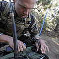 Buds Candidate Checks His Radio Channel by Stocktrek Images