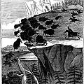 Buffalo Hunt, 1834 by Granger