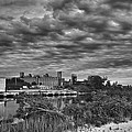 Buffalo Mills Under Clouds by Guy Whiteley