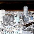 Buffalo New York Aerial View Inverted Effect by Rose Santuci-Sofranko