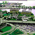 Buffalo New York Waterfront Aerial View Ultraviolet Effect by Rose Santuci-Sofranko