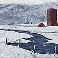 Buffalo River Valley In Snow by Garry McMichael