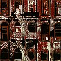 Building Facade In Brown And Red by Rich Walter