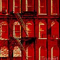Building Facade In Red And White by Rich Walter