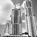 Buildings Downtown Miami by Rudy Umans