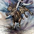 Bull Bucking His Rider by Design Pics Eye Traveller