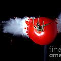 Bullet Hitting A Tomato by Ted Kinsman