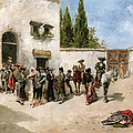 Bullfighters Preparing For The Fight  by Vicente de Parades