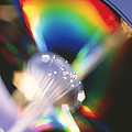 Bundle Of Optical Fibres Conducting Light by Steve Horrell