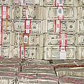 Bundles Of Five Dollar Bills by Adam Crowley