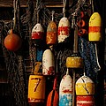 Buoys On Fishing Shack - Greeting Card by Mark Valentine