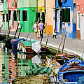 Burano Reflections by Greg Matchick