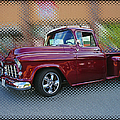 Burgundy Hot Rod Pick Up Abstract by Randy Harris