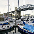 Burrard Marina Street Bridge Downtown Vancouver Bc Canada by Andy Smy
