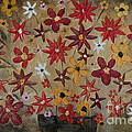 Burst Of Flowers Yellow And Red by Samantha Black