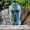 Bust Of Carlos Lleras Restrepo In Cartagena De Indias Colombia by Jannis Werner