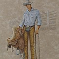Busted Bronc Rider by Phyllis Howard