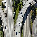 Busy Freeway Interchange by Don Mason