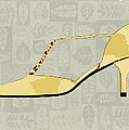 Butter Yellow Leather T Strap Heel by Elaine Plesser