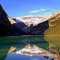 Butterfly Phenomenon At Lake Louise by Karen Wiles