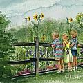 By The Garden Fence  by Nancy Patterson