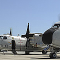 C-2a Greyhound Aircraft Start by Stocktrek Images
