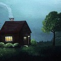 Cabin In The Moonlight by Katie Slaby