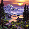 Cabin On The Lake by David Lloyd Glover