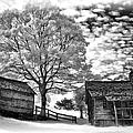 Cabin Under Buttermilk Skies Vignette by Dan Carmichael