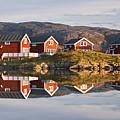 Cabins At Sommaroy, Tromso, Norway by David Clapp