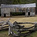 Cable Mill Barn In Cade's Cove No.122 by Randall Nyhof