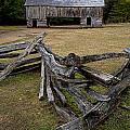 Cable Mill Barn In Cade's Cove No.123 by Randall Nyhof