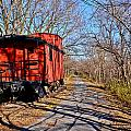 Caboose Among The Tree Shadows by Julio n Brenda JnB