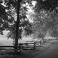 Cades Cove Tennessee In Black And White by Kathy Clark