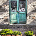 Cafe Doors In Brisighella by Sharon Foster