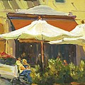 Cafe In Montecito by Elizabeth Taft