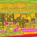 Cafe In Van Gogh Bright Style by James Stanfield