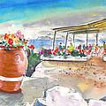 Cafe On Agios Georgios Beach by Miki De Goodaboom