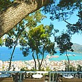 Cafe Terrace At Bohali Overlooking Zante Town by Ana Maria Edulescu