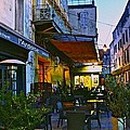 Cafe Terrace On The Place Du Forum by Eric Tressler