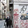 Calle Alvaro De Bazan Graffiti by Lorraine Devon Wilke
