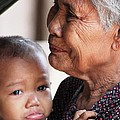Cambodian Grandmother And Baby #1 by Nola Lee Kelsey