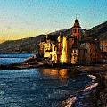 Camogli Church Beach by Dean Wittle