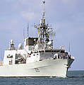 Canadian Navy Halifax-class Frigate by Stocktrek Images