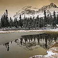 Canadian Rocky Mountains Dusted In Snow by Tim Fitzharris