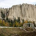 Canadian Rocky Mountains Hoodoos by Terry Fleckney