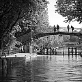 Canal Of St. Martin Bw by Eric Tressler